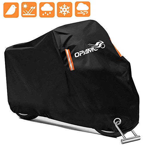Motorcycle Scooter Cover Waterproof Outdoor  Large Medium XL 250cc 150cc 50cc Scooter Shelter for Harleys All Weather Motorbike Protection with Lock Holes Tearproof HeavyDuty Durable Fit up to 96""