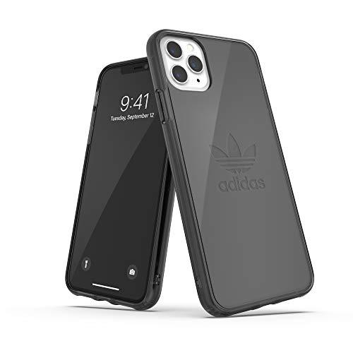 adidas Originals Kompatibel mit iPhone 11 Pro Max Hülle, Großes Logo Druck Transparente schützende Handyhülle - Schwarz