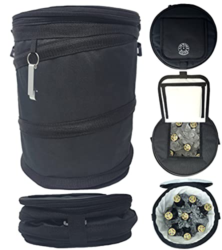 Golf Cart Cooler Bag | Fits on Golf Cart or Push Cart - Pops Up and Collapses Flat - Perfect for Golf, Beach, Camping, Travel, Tailgating, Vacation | Use in Golf Cart Basket or on Fender