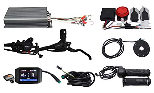 HYLH Ebike Elektrofahrrad 48 V 60 V 72 V 3000 W eBike 100 A Programmierbare Sinuswelle Regenerative Funktion Controller Kit mit Alarmsystem + 750 C Farbdisplay + PAS , Alarm