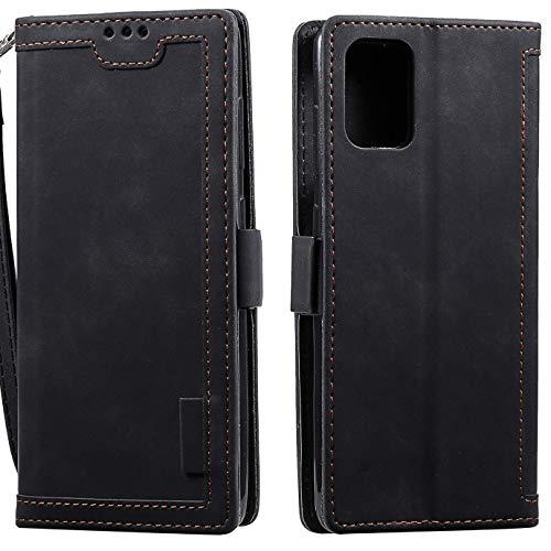 Hancda - Funda para Huawei P40, de piel, con cierre magnético, Negro