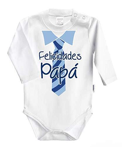 Body Papá de Manga Larga - Felicidades Papá (Celeste)