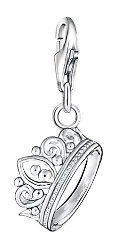 Thomas Sabo Damen Charm-Anhänger Krone Charm Club 925 Sterling Silber 1011-001-12