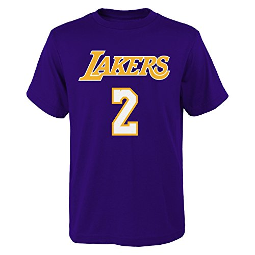 Lonzo Ball Los Angeles Lakers Youth Purple Name and Number Player T-Shirt Medium 10-12