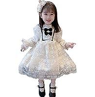 子供 ワンピース シフォンドレス フォーマル 結婚式ドレス 高級感 フリル襟 フリル袖 刺繍 発表会 お呼ばれ 韓国服 女の子 プリンセス リンボ