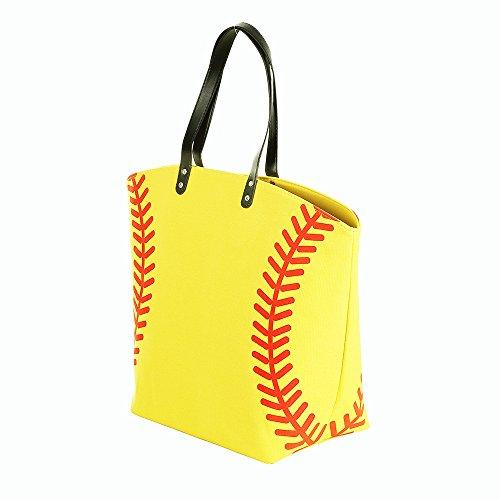 E-FirstFeeling Large Softball Tote Bag Sports Prints Tote Handbag Beach Bag Travel Bag for Women (Softball)