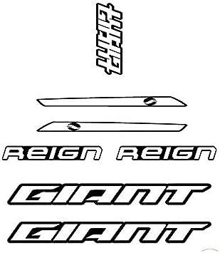 Juego de Adhesivos en Vinilo para Cuadro de Bicicleta Giant Reign Contorno Modelo 2 Pegatinas para Bici Sticker Decorativo Bike Sticker Amarillo