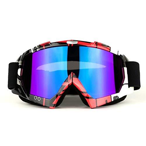 Yi-xir diseño Clasico Motocross Racing Goggles Afuera Equitación Gafas Gafas a Prueba de Viento Gafas de esquí Moda (Color : 6, Size : 20 * 10cm)