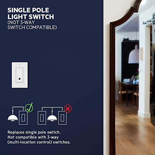 Wemo F7C030fc Light Switch, WiFi enabled, Works with Alexa and the Google Assistant
