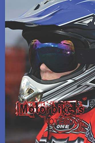 Motorbikers notebook: Biking lined journal notebook for motorbike, motorcross, trails bike, pit bike, quad bike and racing bike motor sport enthusiast ... 6 days trails participant cover art design
