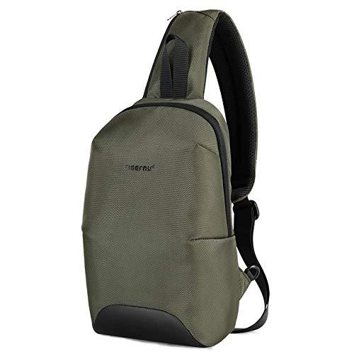 Backpack Rucksack Laptop Bag New Anti Theft Chest Bags Waterproof Men Light Weight Chest Bag Fashion Zippers Green
