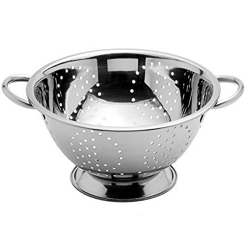 Arga - Nudelsieb - Edelstahl Küchensieb - Abtropfsieb - Sieb mit Schwerlastgriffen und Ringsockel - Ø 28 cm