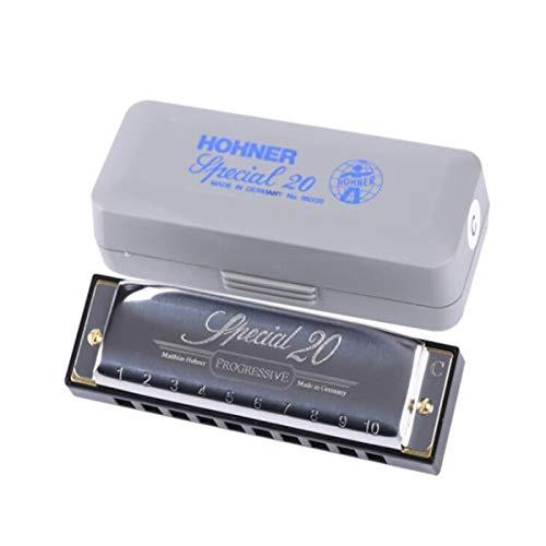 XIAONINGMENGDIAN - Armónica pulmonar diseñada para no músicos - Armónica de 10 agujeros para adultos principiantes Special20 C - Armónica gris para niños, Gris: 10 x 2,4 x 2,2 cm.