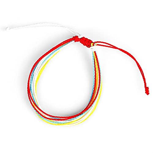 COKILU Woozu 22 Colores Tibetano Budista Amor Afortunado Encanto Tibetano Pulseras y brazaletes for Mujeres Hombres Nudos Hechos a Mano Cuerda Pulsera Malvado espíritu Dinero Dibujo Riqueza Fortuna