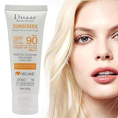 Facial Sunscreen Lotion Cream Beauty Skin Care SPF 90 Oil Free Radical Scavenger Anti Oxidant UVA/UVB 40g Britening Anti Sun Day Cream from Barabum