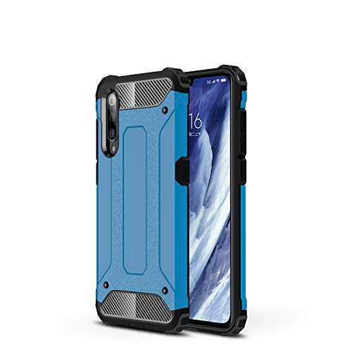 FanTings Capa para Xiaomi Mi 9 Pro 5G, [à prova de choque] [Resistente] [Armadura resistente] Capa protetora de camada dupla resistente generosa, quatro cantos espessos, capa para Xiaomi Mi 9 Pro 5G – Azul escuro