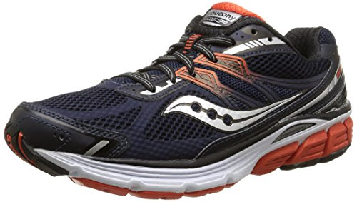 Saucony Men's Omni 14 Running Shoe, Navy/Red,10 M US