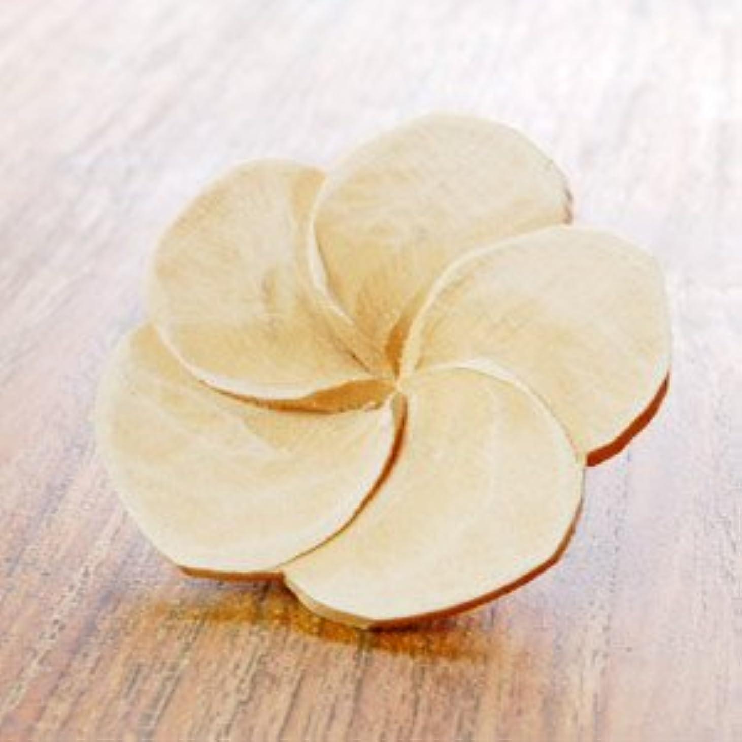 作曲する魅力蒸気【アジア工房】プルメリアの花びらをモチーフにした木製アロマフラワー[Aタイプ][10891] [並行輸入品]