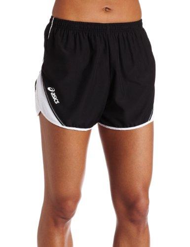ASICS Damen Team Split Short, Damen, schwarz/weiß, Medium