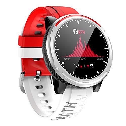 BNMY Smart Watch Männer Bluetooth Call Watch HD Display IP67 Wasserdichter Fitness Tracker Schlaf Herzfrequenzmesser Musik Player Sport Smartwatch Für Android Ios,Rot