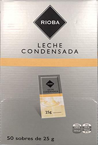 Leche Condensada Rioba Monodosis 50 Sobres de 25 Gr.