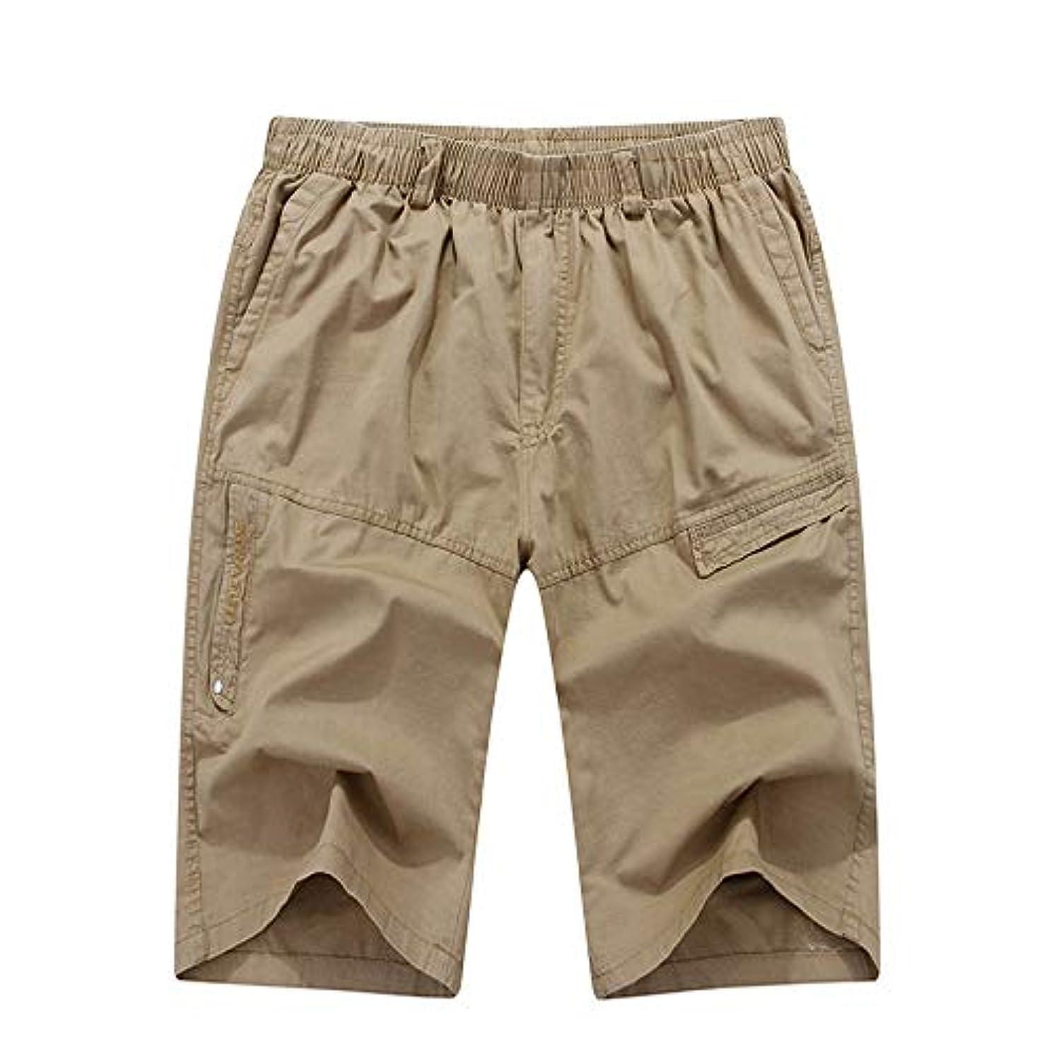 Mens Shorts Casual Shorts Cargo with Pocket Men Shorts Elastic Waist Beach Pants