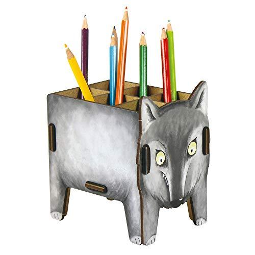 STIFTEBOX Vierbeiner - WOLF von Werkhaus Büro Schreibtisch Utensilio Box 7111