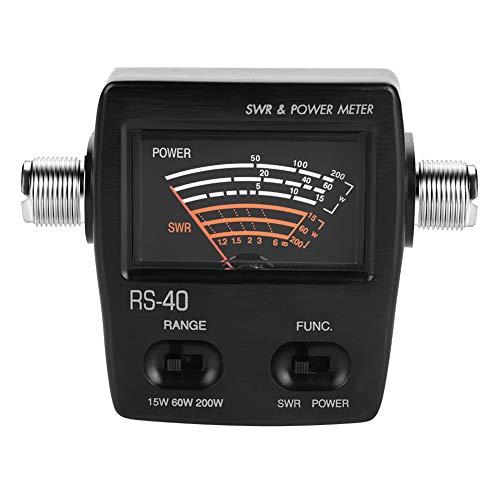 Bewinner Professionelles UV-Segment-Stehwellenmessgerät Leistungsmessgerät zum Testen von SWR-Leistung Tragbares Stehwellenmessgerät für Autoradio