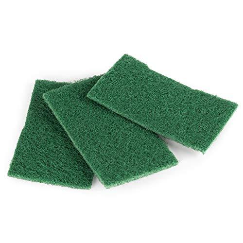 Beldray LA076359EU7 Eco Récurer, Tampon Abrasif Écologiques en Fibres Recyclées, Lot de 3, Éponge de Nettoyage, Nettoyer la Cuisine, Assiettes, Poêles et Brûleurs, Vert