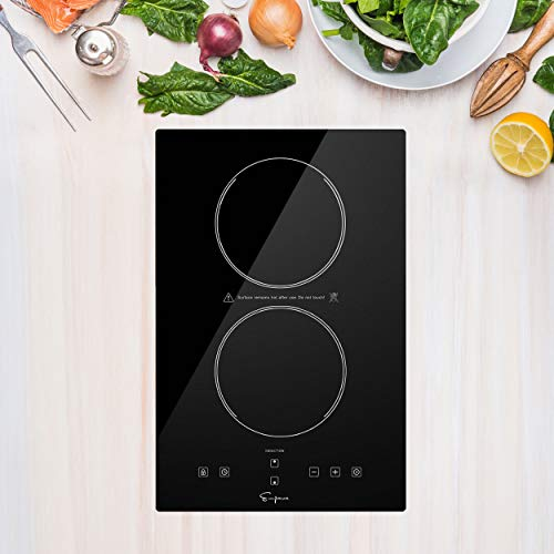Empava Electric Stove Induction Cooktop Vertical with 2 Burners Vitro...