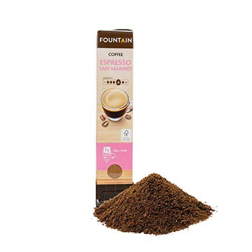 Fountain Espresso San Marino 115gr - Cartucho de Repuesto de Café Molido - Compatible con el Accesorio Fountain FA 12. Café 100% Arábica en Polvo con un Sabor Intenso.