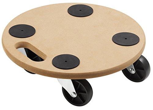 Metafranc Plantenroller, Ø 350 mm, 150 kg draagvermogen, MDF-plaat, meubelroller, onderzetters met wieltjes, transporthulp voor planten