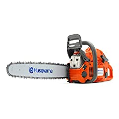 460 Rancher chainsaw is a robust all-round saw for jobs that need a longer Bar 60. 3cc 20 inch gas chainsaw with guide bar and chain, Torque, max. 3.4 Nm 2 cycle engine with intertia activated chain brake for safety while operating Orange Husqvarna c...