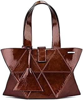 Kaizer KI1808BRON Leather Shoulder Bag for Women - Bronze