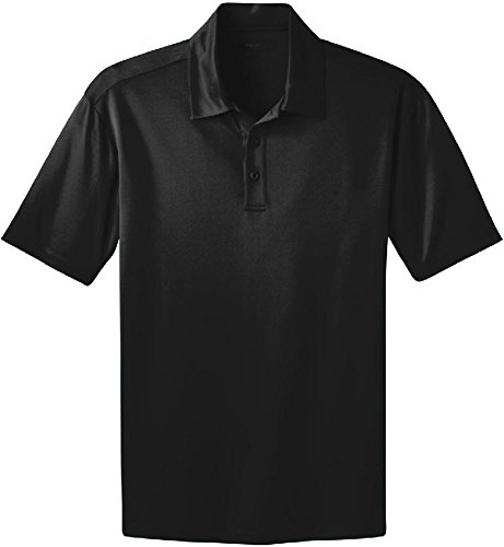 Men's Silk Touch Golf Polo, Black, X-Large