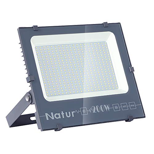 200W Foco led exterior,Led Proyector para Exterior Iluminación Decoración alto brillo 20000LM IP66,6000K,luz led para Jardín, Garaje, Bodega y Patio