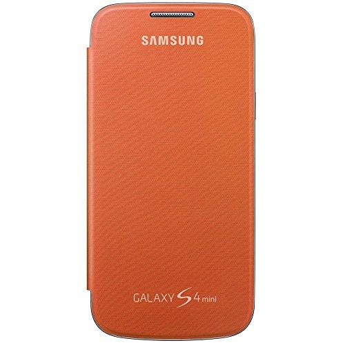 Samsung Hülle Schutzhülle Clip-On Flip Case Cover für Samsung Galaxy S4 Mini - Orange