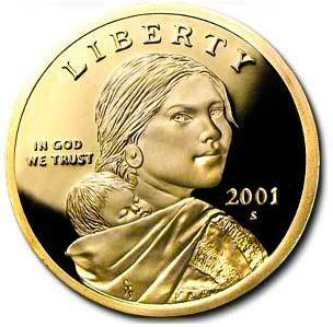 2001 S Sacagawea Native American Proof US Coin DCAM Gem Modern Dollar $1 $1 Proof DCAM US Mint