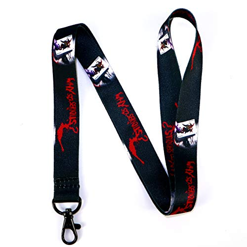 commercial RockNerdy – Joker Why such a serious keychain with a metal clasp – an ID bracelet with a Joker quote… air jordan lanyard