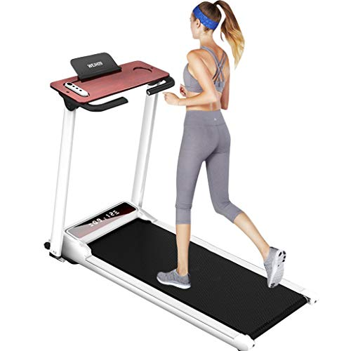ZAIJMKD Smart Digital Folding Treadmill/Electric Foldable Exercise Fitness Machine/Compact Treadmill with Large Desk/Best Walking Running Treadmill Machine for Home Gym Office Cardio Use
