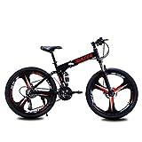Vélo Pliant 26 Pouces 27 Vitesses VTT Homme Ski Variable Absorption Vitesse Vélo Double Choc Léger Jeune Adulte Étudiant (Color : Black, Size : 26 inch 27 Speed)