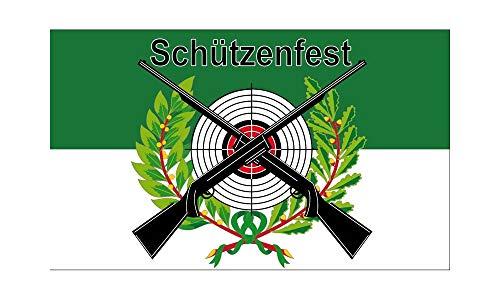 Schützenfest Fahne mit Scheibe (V30) - 90x150cm