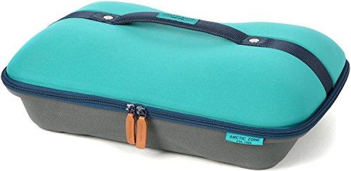 Arctic Zone Deluxe - Portador de comida con aislamiento térmico y frío, color verde azulado