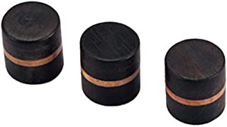 3pcs Wood Volume Tone Control Dome Knobs Guitar Bass Parts Rosewood or Beach Finish Tone or Volume Black