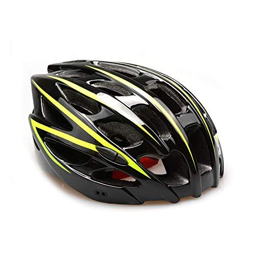 QYLJX Casco Bici da Ciclismo per Adulti,Attrezzatura da Equitazione Sportiva per Il Ciclismo su Strada di Montagna,Rimovibile con Liner Thrasher Regolabile, 28 Prese d'Aria (57-62 Cm)