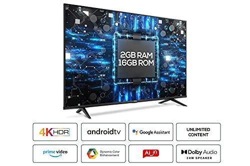 TCL 108 cm (43 inches) 4K Ultra HD Certified Android Smart LED TV 43P615 (Black) (2020 Model) | With Dolby Audio 2