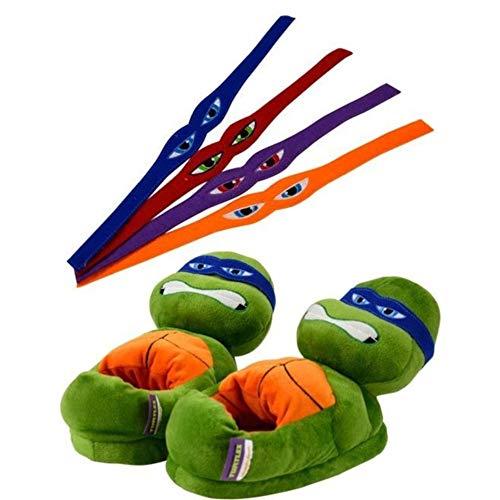 United Labels GmbH Tierhausschuhe Turtles mit 4Binden mit 4 Binden zur individuellen Gestaltung, Grün, 35-37