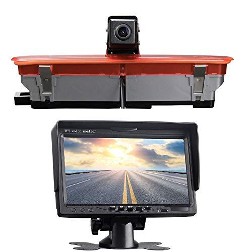 HD 3rd Brake Light Camera Reverse Camera di Ricambio Tetto top mount lampada freno fotocamera Rear View Backup Camera +7 'Monitor Display per Fiat Doblo Opel Combo (2010-2019)
