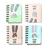 Yyooo - Cuaderno de notas con diseño de zapatos en espiral, práctico y creativo con diseño de zapatos