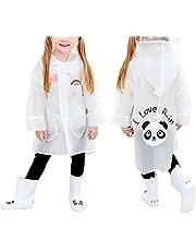 Queta Chubasquero Infantil Chubasquero para Niños, Poncho de Lluvia para Niños, Chubasquero Impermeable con Patrón de Panda, Capa de Lluvia de Dibujos Animados para Niños y Niñas